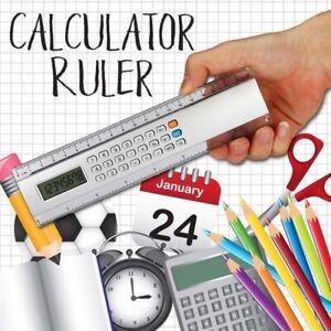 Multi-functional Calculator Ruler 20cm Measuring Tool School Office