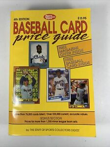 1990 Sports Collectors 4th Edition Baseball Card Price Guide