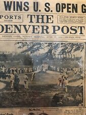 1934 Denver Post US Open Olin Dutra Sports Page Laminated
