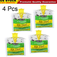 4X Outdoor Disposable Fly Catcher Control Trap with Attractant Insecticide Free