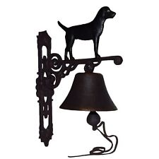 Black Labrador Retriever Dog Bell Farm Cast Iron Sign Plaque Door Wall House