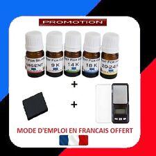 TESTEUR OR 5 FLACONS PRET A L'EMPLOI 9 14 18 24 + ARGENT + PIERRE + BALANCE 0.01
