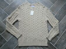 WOW! Men's Sweater Viscose/Lambs Wool/Cashmere Blend GANT Oatmeal XXL $220 NWT!