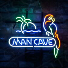 Palm Tree Parrot Pub Artwork Decor Store Beer Custom Boutique Vintage Neon Sign