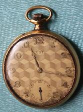 Montre gousset chronomètre en OR 18K marque UTI poids 53,6grs art déco