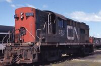 CANADIAN NATIONAL Railroad Locomotive CN 3727 Original Photo Slide