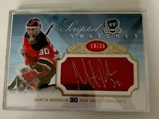 """The Cup """"Scripted Swatches """",Martin Brodeur, New Jersey Devils, #SS-BR, N/M Cond"""