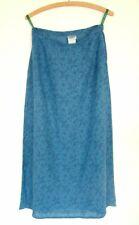 Vintage 90s Laura Ashley blue paisley floral grunge a-line flared midi skirt, 12