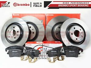 FOR AUDI A4 A5 S4 S5 Q5 08-11 FRONT REAR GENUINE BREMBO COATED BRAKE DISCS PADS