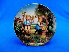 "Hummel Plate ""Apple Tree Boy & Girl"", Danbury Mint, Little Companions 8"" Plate"
