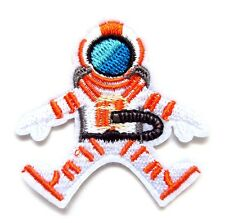 Space Man Iron On Patch- Kids Fancy Dress Up Astronaut Applique Crafts Badge Sew