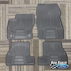 12 thru 18 Focus OEM Genuine Ford Black Rubber All-Weather Floor Mat Set 4-piece