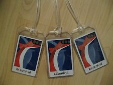 Carnival Luggage Tags - Cruise Ship Repurposed Playing Cards Name Tag Set (3)