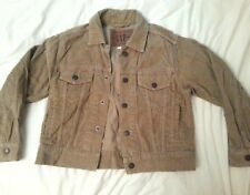 "GAP 100% Cotton Short Cropped Tan Brown Jacket Corduroy Style Small 32"" Chest"