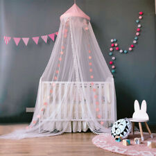 Crib Mosquito Net Canopy Hanging Bed Netting Kid Room Tent Nursery Decor Bedding