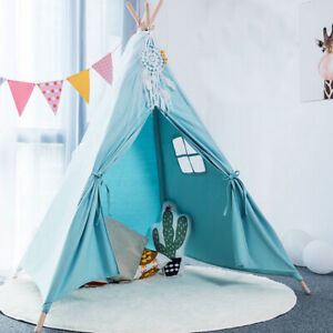 Kinder Spielzelt Indianerzelt Tipi Zelt mit Fenster Outdoor Indoor Spielhaus