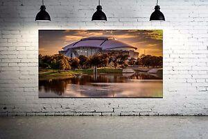 Dallas Cowboys Stadium Canvas Print 36 x 24 AT&T  Stadium Panoramic Effect