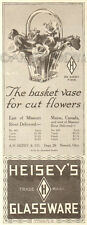 Antique 1915 Heisey's Glassware BASKET BASE Glass No. 465 Florist Floral Ad