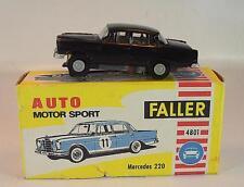 Slot Car Faller AMS Nr. 4801 Mercedes 220 schwarz Blockmotor alte Papp-OVP #682