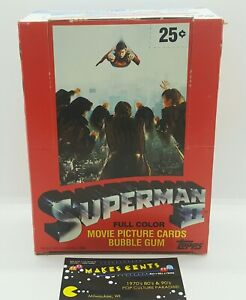 1980s - SUPERMAN II Topps Movie Waxpack Picture - Empty Box Only