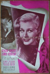VIVACIOUS LADY, Ginger Rogers, James Stewart, 1938, Pressbook 434