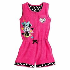 5b8fda00d6996 Disney Store Minnie Mouse Princess Polka Dot Deluxe Girls Swimsuit Cover Up  New