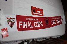 BUFANDA DE FUTBOL FINAL COPA REY SEVILLA F.C. Y FC BARCELONA ES OFICIAL  SCARF
