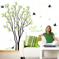 KE_ Lemon Tree Bird Wall Sticker Adhesive Decal Mural Living Room Bedroom Deco