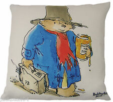 "FILLED EVANS LICHFIELD PADDINGTON BEAR MARMALADE MADE IN UK CUSHION 17""- 43CM"