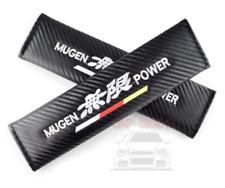 2x BLACK MUGEN style Seat Belt Shoulder Cover/Civic/EP3/DC5/EK