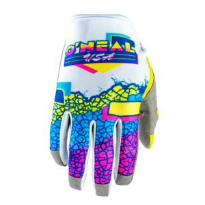 O'Neal Mayhem Crackle 91′ Adult Motocross Dirt Bike Gloves - Multi