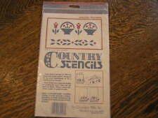 "Country Stencils #34498 Basket w/ Flowers & Border Design 6.5x2"" & 6.5x.75""~Nip"