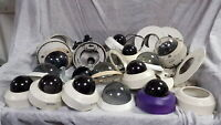 Pelco Various/Mixed Job Lot 4x CCTV Dome Cameras and Lots of Cases/Shell Units G