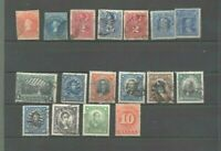 17 anciens timbres du Chili a partir du no 8