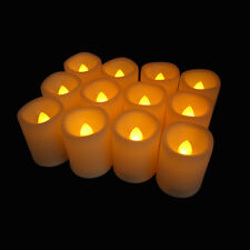 LED Flameless Votive Candles with Timer, Battery Operated 12pcs, Flicking candle
