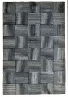 6X9 Grey Wool Carpet Indian Hand Tufted Rug Modern Handmade Office Area Rugs