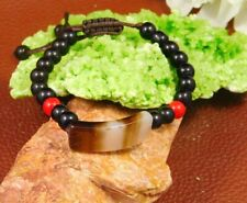 Beads Thread Adjustable Bracelet Jewelry Jc1629 Botswana Agate & With Black Onyx