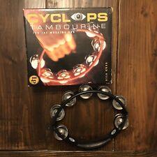 LP Cyclops Tambourine LP150 Handheld Black w/ Box
