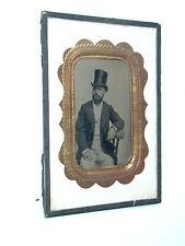 AMBROTYPE homme et chapeau haute forme photo photographie