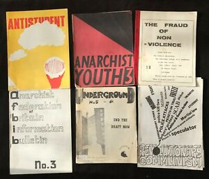 British Anarchist Publications & Zines c.1963-73 - Archive of 16 Items
