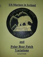 1941 World War II 6th Marine Regt 1st Provisional Brigade Polar Bear Patch Book