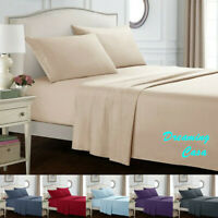 King size sheets 1800 Count 4 Piece Bed Sheet Set Deep Pocket Bed Sheets Set H4