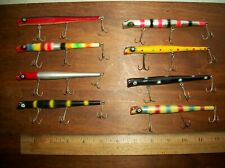 New listing 8 Vintage Fishing Pencil Plug Lures