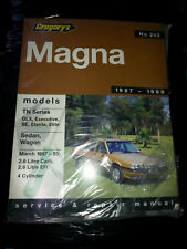 GREGORY WORKSHOP MANUAL 243  MITSUBISHI MAGNA TN SERIES NEW SHOP SOILED DAMAGED
