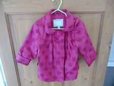 Vertbaudet - Girls - Rain Coat with Hood in Pink - Size 2Years