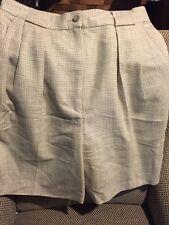 Shorts KORS,Vintage 1991-93 Italian Pleated Wool Beige bottoms Women's 6 Shorts