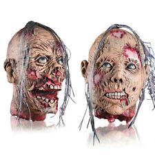 More details for bloody halloween scary zombie head props haunted horror house party decorations