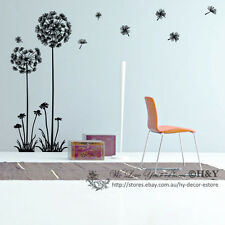 Dandelion Flower Removable Wall Art Decal Vinyl Stickers Mural Home Decor Deco