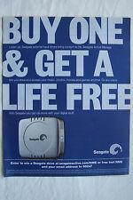 SEAGATE - External  Hardrive - Magazine Advertisment Poster