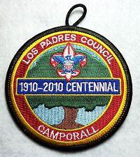 BSA mint 2010 Los Padres Council Centennial Camporall event patch merged council
